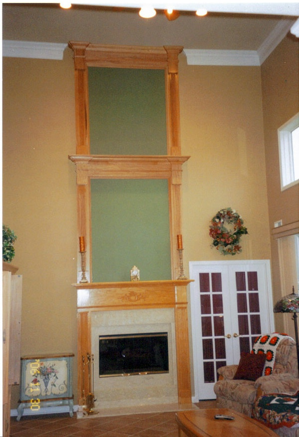 Two Story Oak Mantle