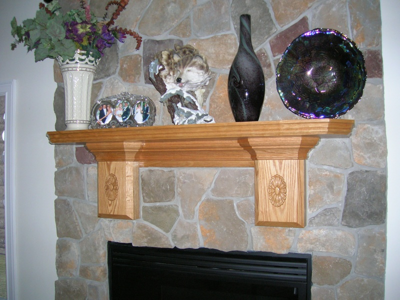 Solid Oak Mantle
