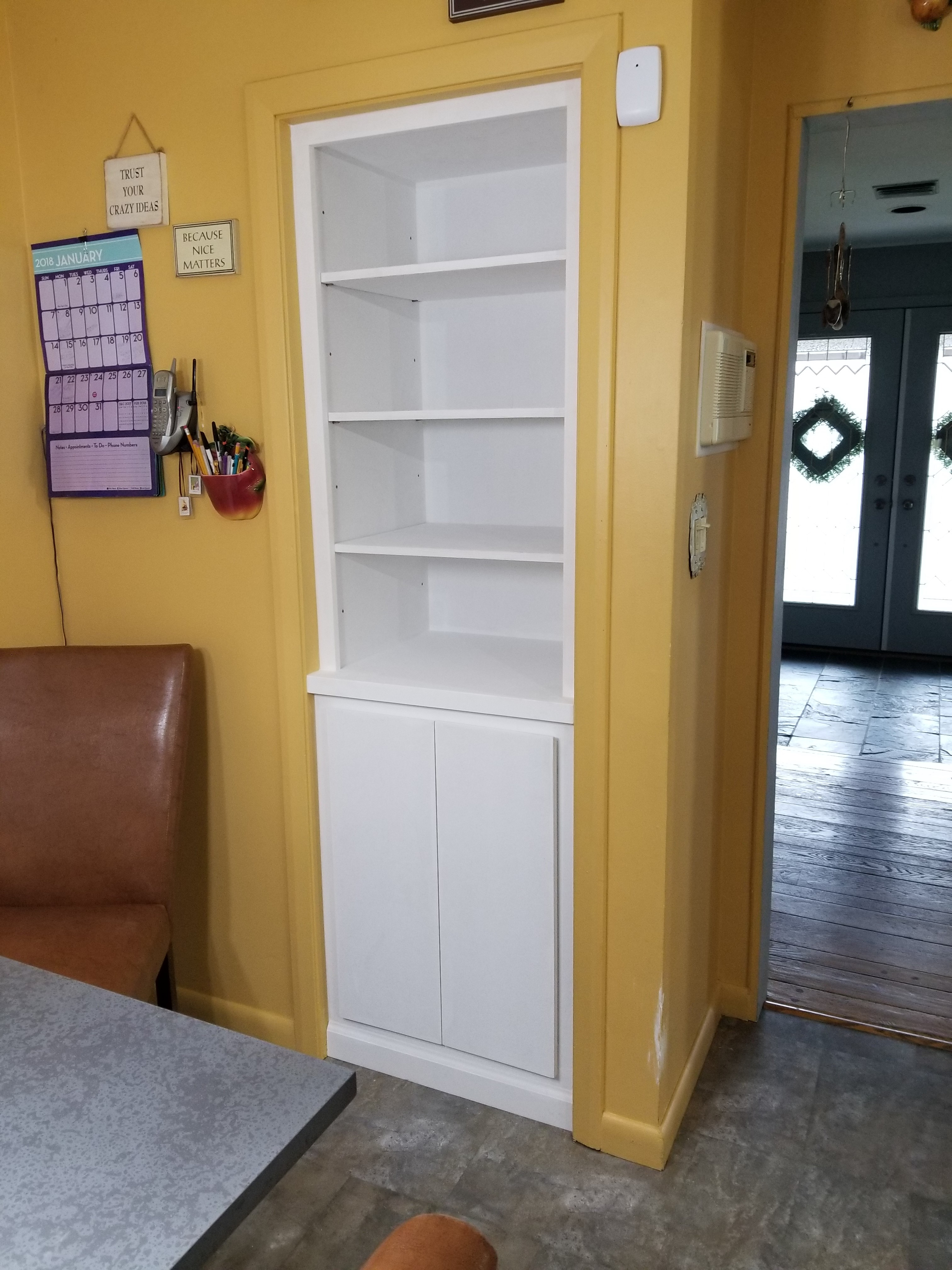 Paint Grade Storage Built Into Closet 1