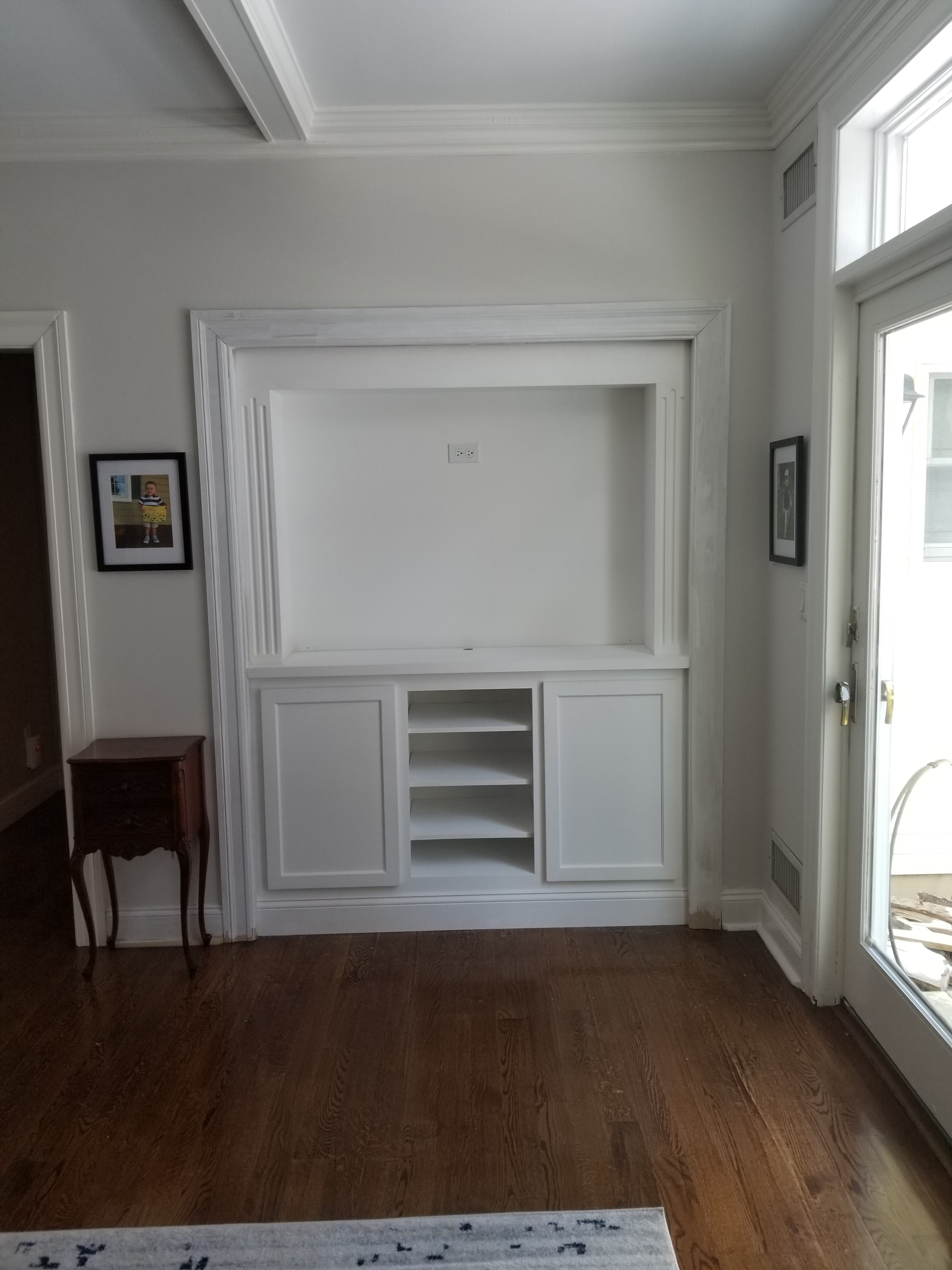 Paint Grade Wall Unit Built Into Existing Closet 1