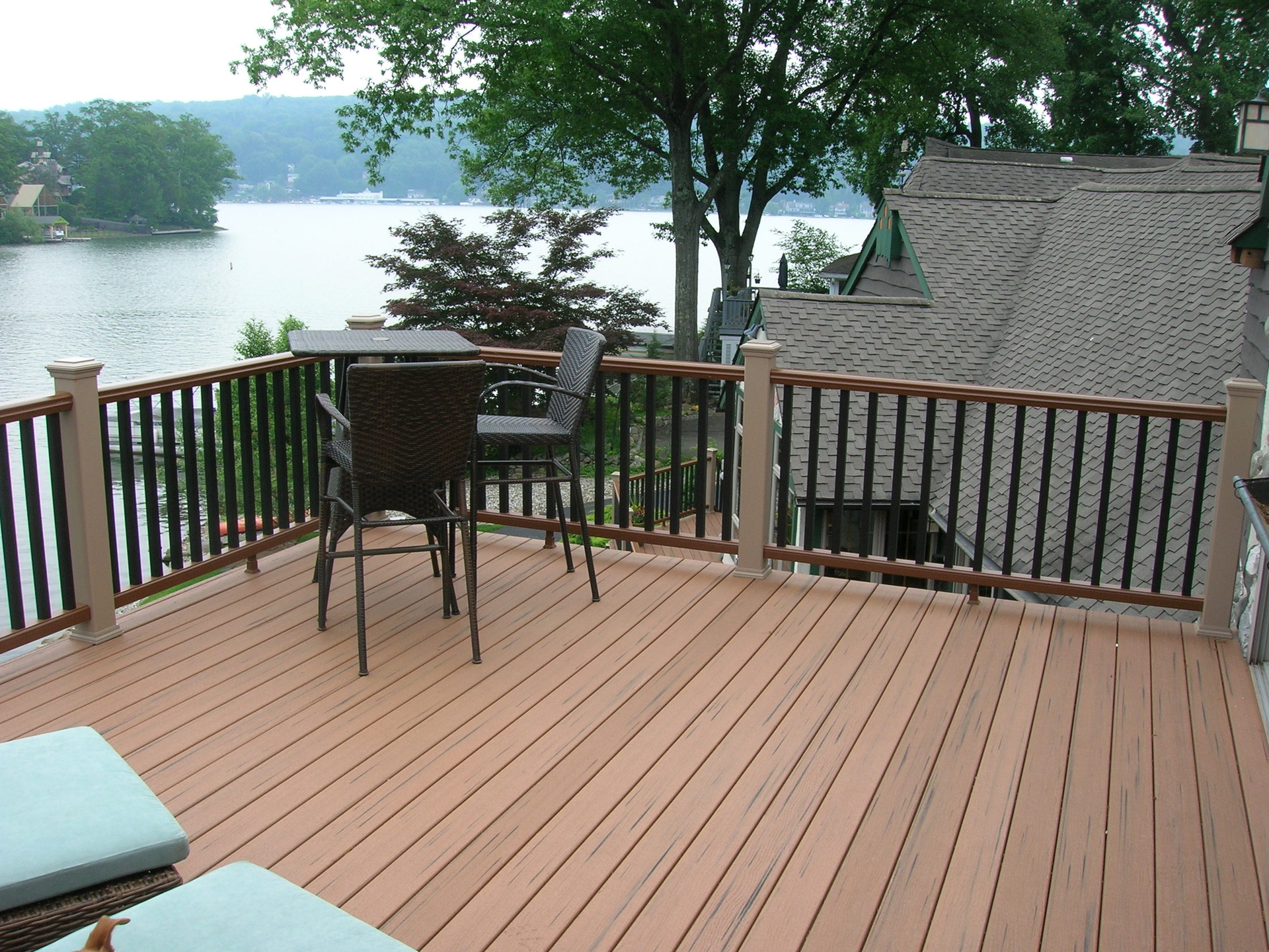 Two Story Full Length Trex Deck & Railing 2