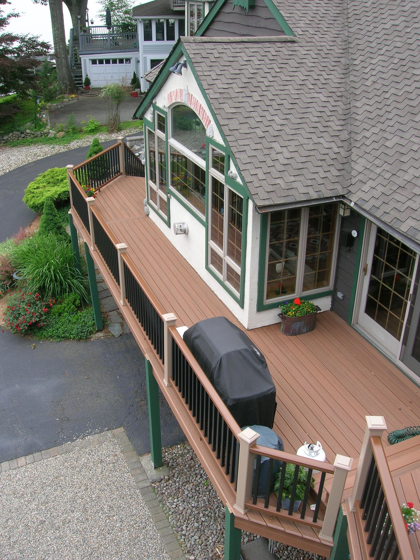 Two Story Full Length Trex Deck & Railing 5
